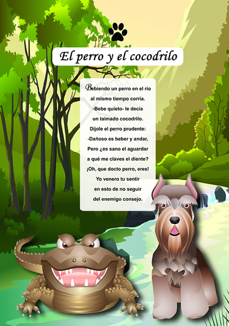 el perro y el cocodrilo: